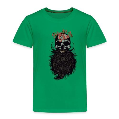 tete de mort hipster skull crane logo barbu barbe - T-shirt Premium Enfant