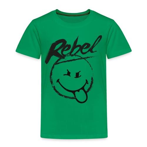 SmileyWorld Rebel Rebellischer Smiley - Kinder Premium T-Shirt