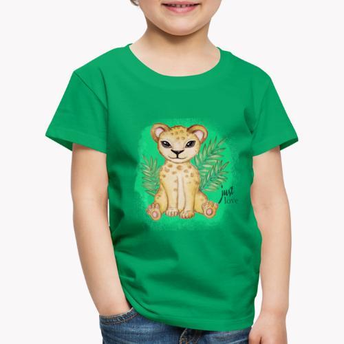 Baby Löwe Just Love - Kinder Premium T-Shirt