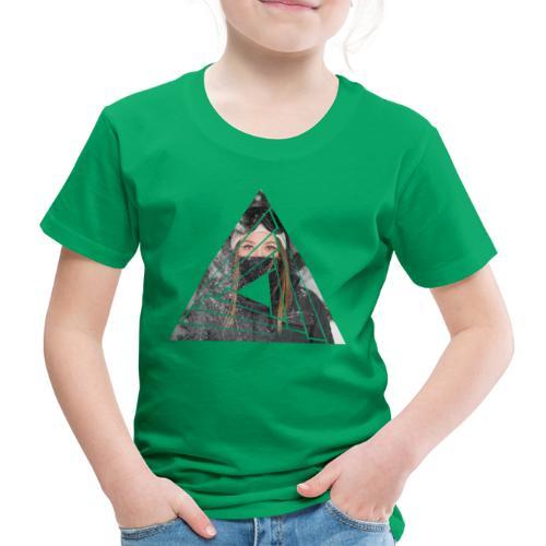 Snow Girl Triangle Graphic Design - Kinder Premium T-Shirt