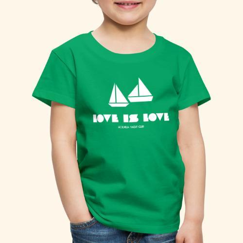 LOVE IS LOVE - Premium T-skjorte for barn
