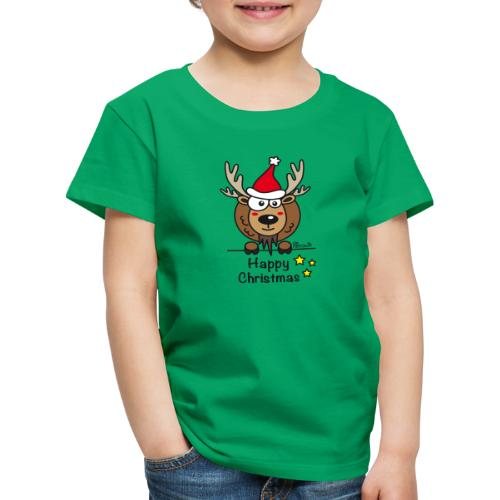 Renne Noël, Happy Christmas, Drôle, Humour, Santa - T-shirt Premium Enfant
