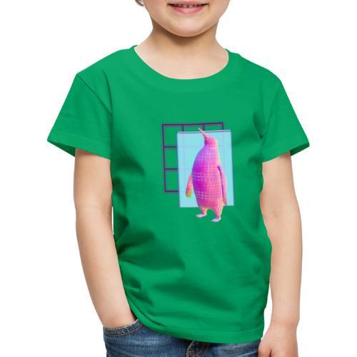 Pinguino Vaporwave - Camiseta premium niño