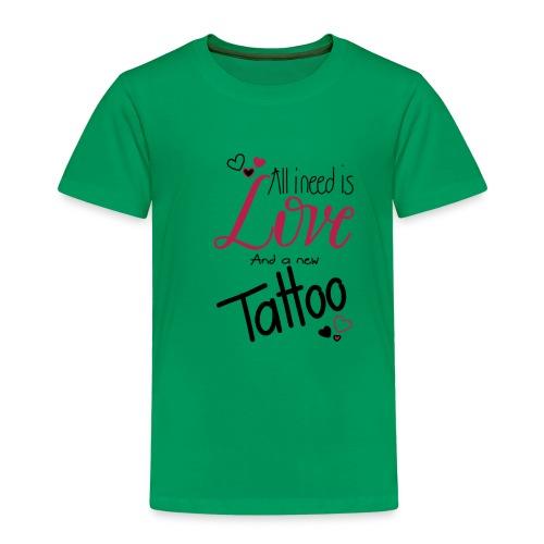 all i need is (schwarz) - Kinder Premium T-Shirt