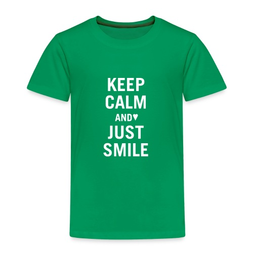 keep calm and just smile weiss - Kinder Premium T-Shirt