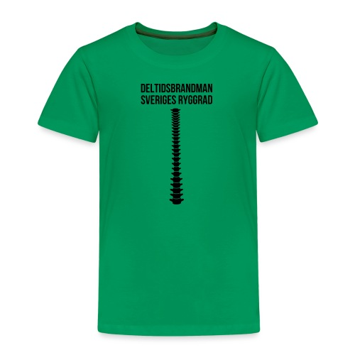 deltids_ryggrad_svart - Premium-T-shirt barn