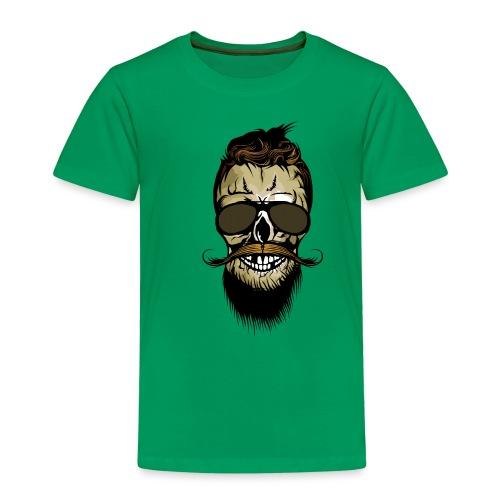 tete de mort hipster barbu barbe crane lunette de - T-shirt Premium Enfant