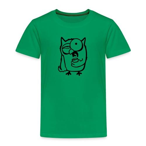 Der frühe Vogel / Eule braucht einen Kaffee - Kinder Premium T-Shirt