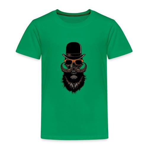 tete de mort crane hipster skull chapeau melon lun - T-shirt Premium Enfant