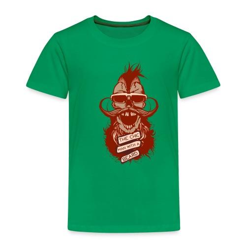 tete de mort hipster skull crane citation chic man - T-shirt Premium Enfant
