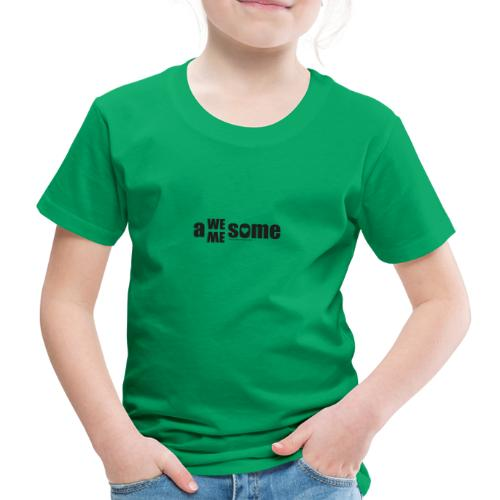 awesome we+me shirt – schwarz - Kinder Premium T-Shirt