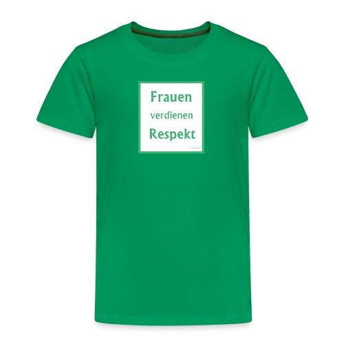 Frauen Respekt weiss-gruen.jpg - Kinder Premium T-Shirt