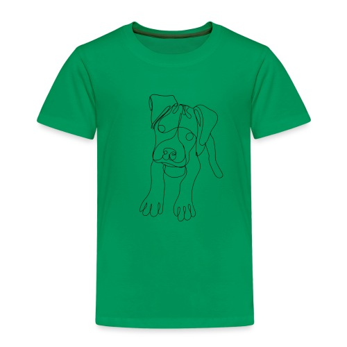Puppy Dog Artwork - Kids' Premium T-Shirt