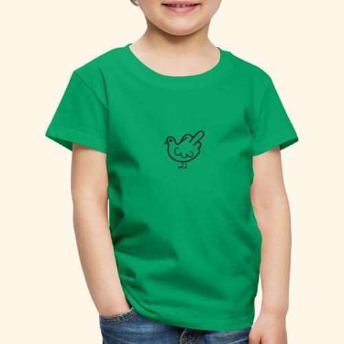 Huhn mit Mittelfinger - Kinder Premium T-Shirt