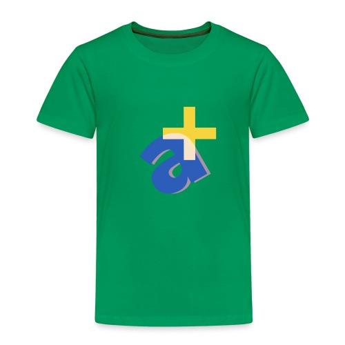 Monograph Letter A Design - Kinder Premium T-Shirt