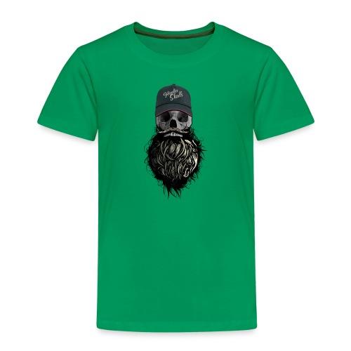 tete de mort hipster casquette logo skull barbu cr - T-shirt Premium Enfant