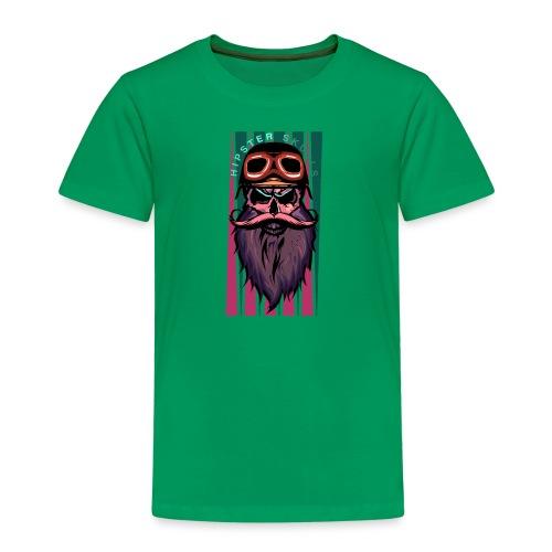 tete de mort hipster crane slull barbe moustache p - T-shirt Premium Enfant