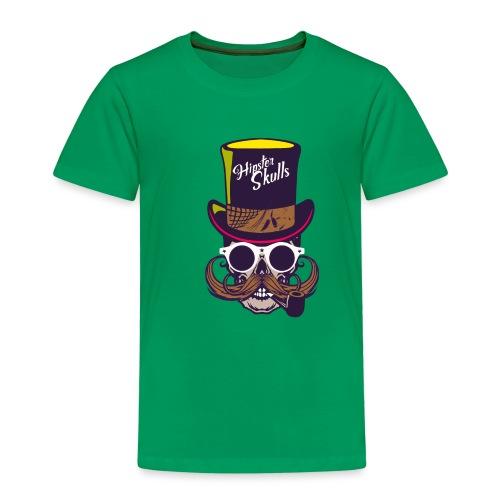 tete de mort crane skull moustache logo pipe lunet - T-shirt Premium Enfant