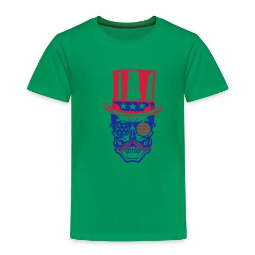 tete de mort hipster crane skull americaine chapea - T-shirt Premium Enfant