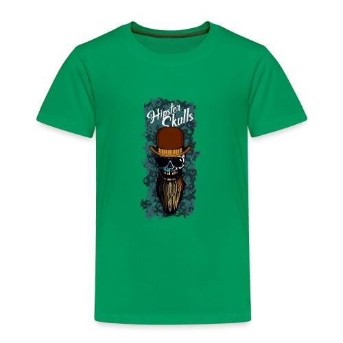tete de mort hipster skull barbu chapeau melon cra - T-shirt Premium Enfant