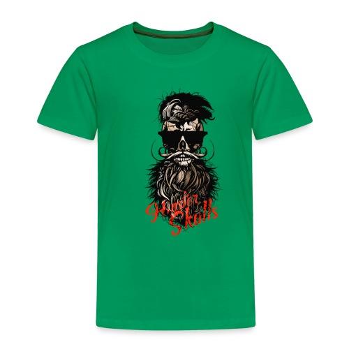 tete de mort barbu hipster barbe crane moustache m - T-shirt Premium Enfant