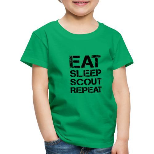 EAT SLEEP SCOUT REPEAT Kreide - Farbe frei wählbar - Kinder Premium T-Shirt