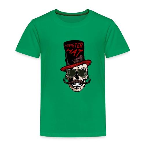 tete de mort hipster hat citation moustache crane - T-shirt Premium Enfant