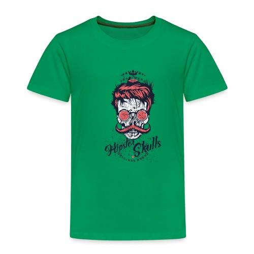 tete de mort crane hipster logo coiffure skull fan - T-shirt Premium Enfant