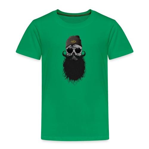 hipster skulls tete de mort crane bonnet moustache - T-shirt Premium Enfant