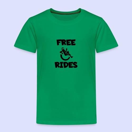 Ik geef gratis rijden met mijn rolstoel - Kinderen Premium T-shirt