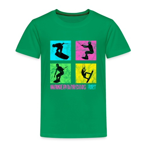 WAKEBOARDING ART - Kinder Premium T-Shirt