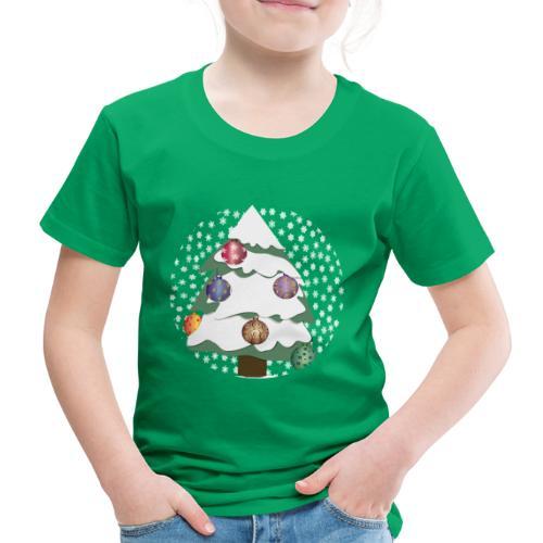 Christmas tree in snowstorm - Kids' Premium T-Shirt