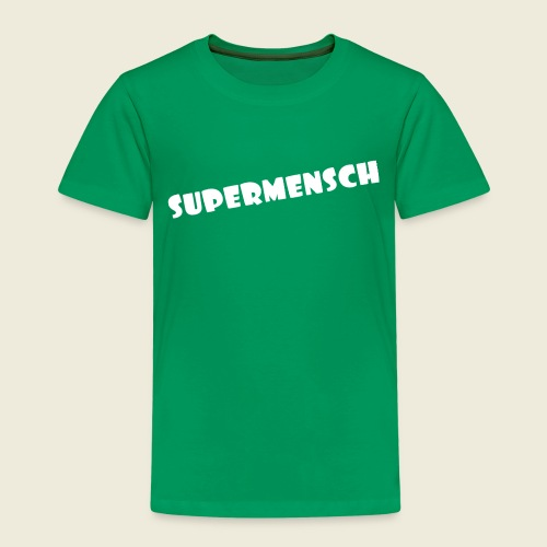 Supermensch in weiß 2 - Kinder Premium T-Shirt