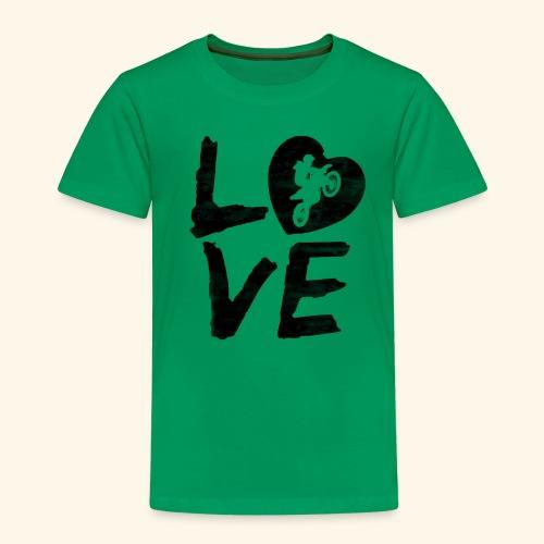 LOVE Motocross - Kinder Premium T-Shirt