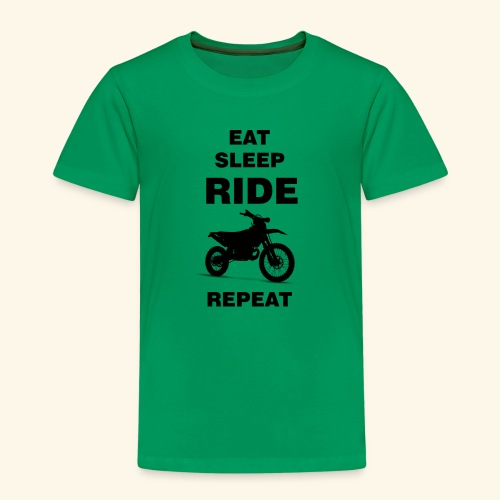 EAT SLEEP RIDE REPEAT Motorrad Enduro Motocross - Kinder Premium T-Shirt
