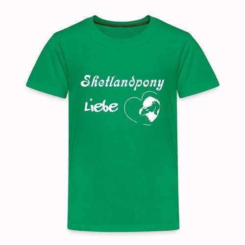 Shetlandpony Liebe in weiss - Kinder Premium T-Shirt