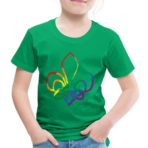 Pinselstrich Lilie Regebogenfahne - Kinder Premium T-Shirt