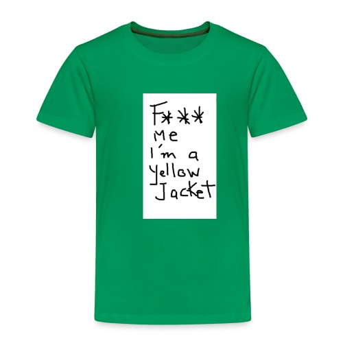 f*** me I'm a yellow jacket - T-shirt Premium Enfant