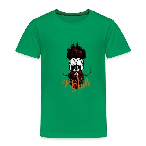 tete de mort hipster skull logo crane barbu barbe - T-shirt Premium Enfant