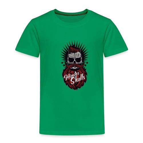 tete de mort hipster skull moustache barbe logo ba - T-shirt Premium Enfant