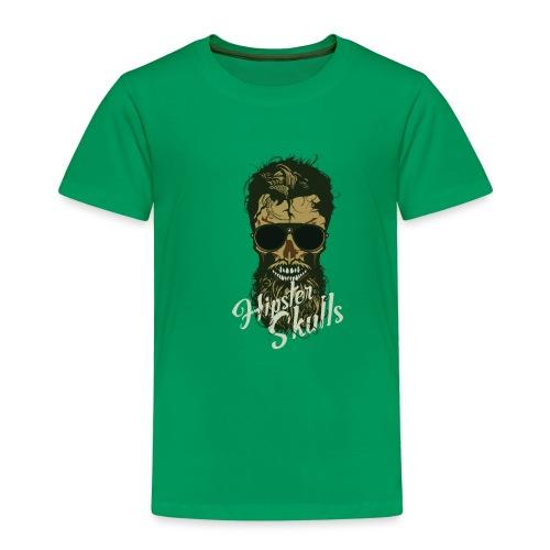 tete de mort hipster crane skull lunette de soleil - T-shirt Premium Enfant