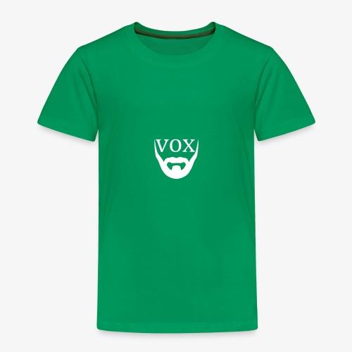 Logo Vox Bianco - Maglietta Premium per bambini