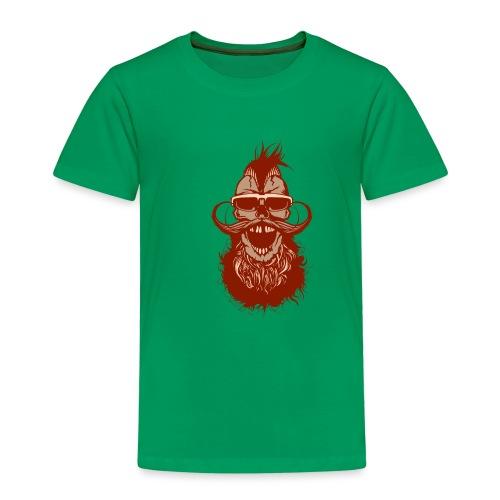 tete de mort hipster skull crane barbe moustache l - T-shirt Premium Enfant