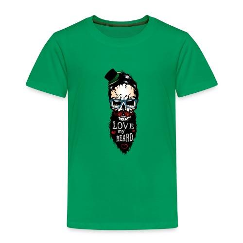 tete de mort hipster citation love my beard humour - T-shirt Premium Enfant