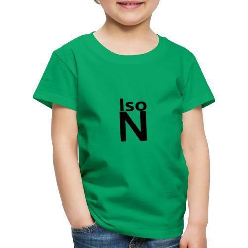 Iso N logo - Lasten premium t-paita