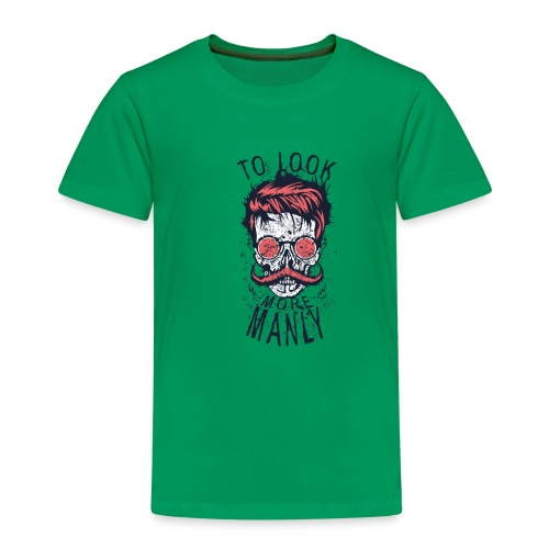 tete de mort crane hipster logo coiffure skull cit - T-shirt Premium Enfant