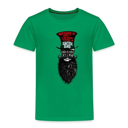 tete de mort hipster chapeau crane skull citation - T-shirt Premium Enfant