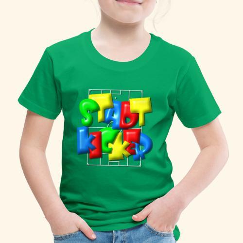 Stadtkicker im Fußballfeld - Balloon-Style - Kinder Premium T-Shirt