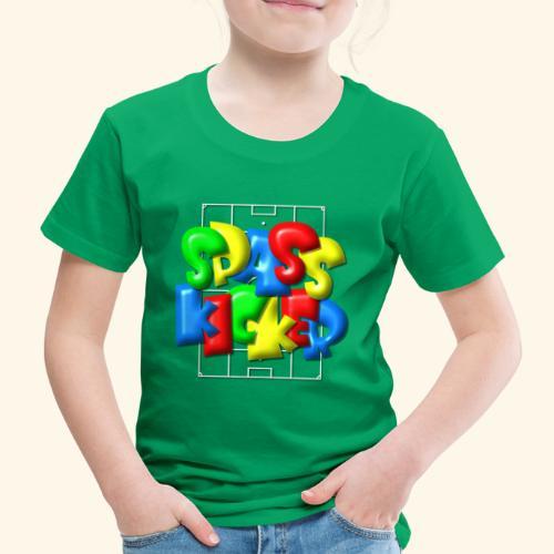 Spass Kicker im Fußballfeld - Balloon-Style - Kinder Premium T-Shirt