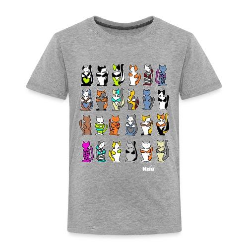 koko paita mustalle - Lasten premium t-paita